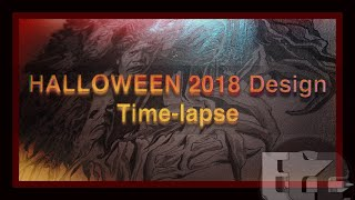 Halloween 2018 Sketch Design Time-lapse