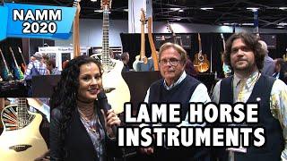 lame horse instruments custom hand made acoustic guitars banjos namm