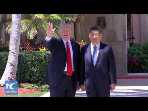Xi, Trump take a walk together at Mar-a-Lago, Florida