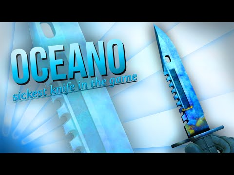 BEST M9 BAYONET FULL BLUE GEM SHOWCASE