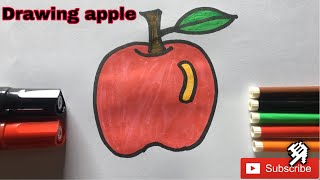 #DrawingHD Drawing Apple By Hand For Kids | 🇰🇭🇰🇭🇰🇭