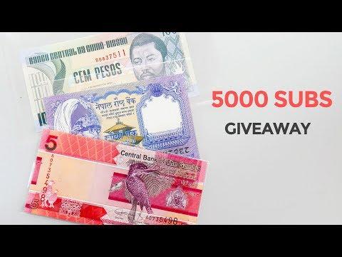 5000 Subs Banknote Giveaway - Gambia 5 Dalasis