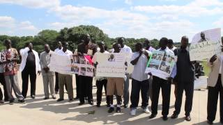 South Sudanese Protesting for Abyei