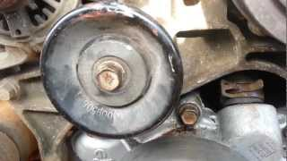 how to change water pump upper radiator hose thermostat and temperature sensor on 97 dodge ram