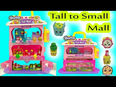 Shopkins Tall Mall Playset From Big to Small with Season 5 Shopkins Exclusives fragman