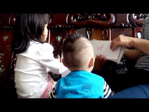 Trẻ 3 tuổi biết đọc, dạy trẻ 1 tuổi theo phương pháp giáo dục sớm Glenn Doman