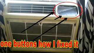 Window AC control buttons  fix run it with out it