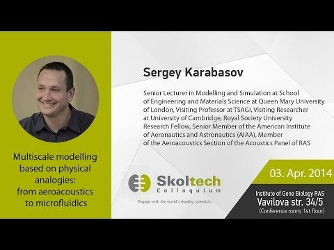 Skoltech Colloquium: Multiscale Modelling Based On