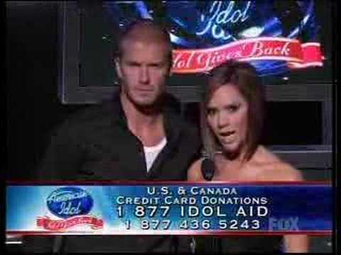 David Beckham & Victoria American Idol Give Back