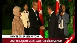 Osman Gökçek Köşk'te 'Zafer' resepsiyonunda