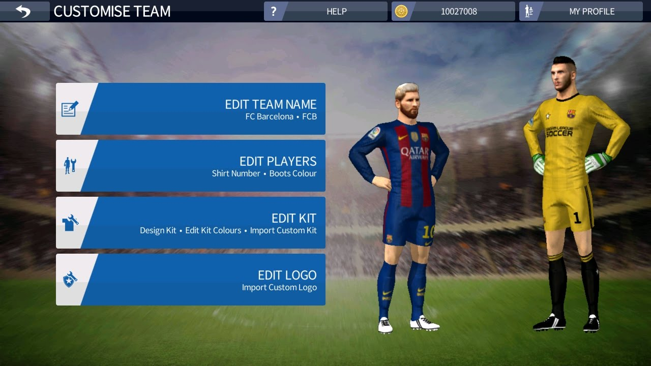 how to get barcelona kit and logo dream league soccer 2016 youtube