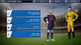 How to get barcelona kit and logo in dream league soccer 2016