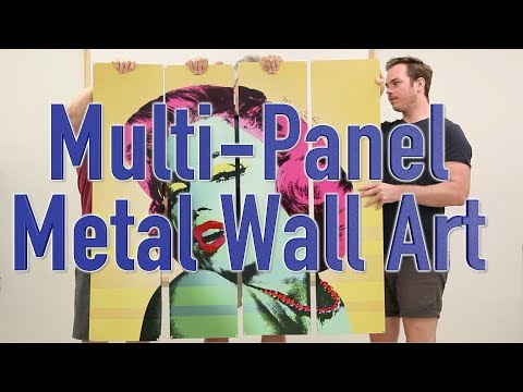 Multi Panel Wall Art Decorating Ideas from Retro Planet