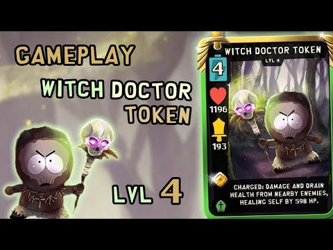 Gameplay Witch Doctor Token Lvl 4 | South Park Phone Destroyer