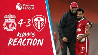 Klopp's Reaction: Offensively, good, defensively, we can improve | Liverpool vs Leeds Utd