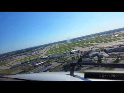 Cockpit View Landing In Indianapolis