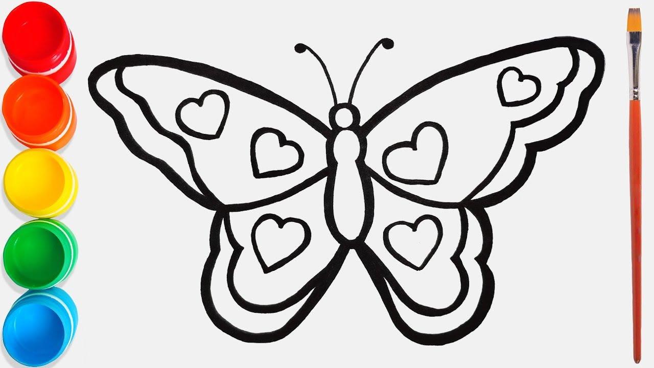 Rainbow Butterfly Belajar Mewarnai dan Menggambar untuk ...