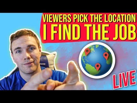 🔴 Viewers Pick The Location - I Find You A Job - LIVE      @joshuafluke On Socials