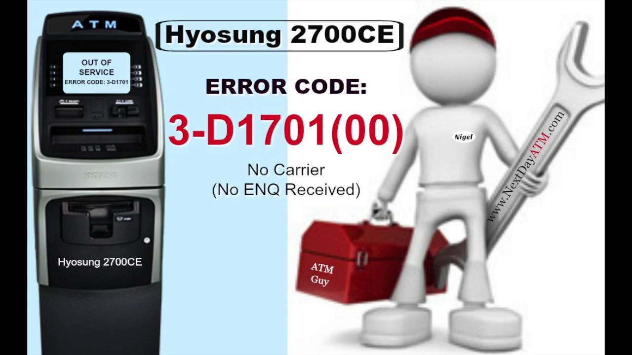 Atm Error Codes D1706