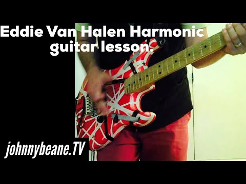 Eddie Van Halen Harmonic guitar lesson. Panama LIVE.