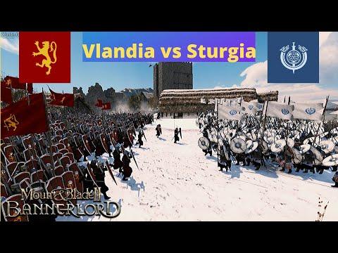 Mount and Blade II Bannerlord: Vlandia vs Sturgia *Snow Battle* |