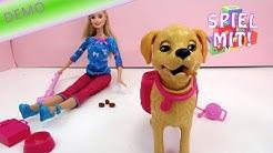 Barbie mit Hund youtube video demo + review - Barbie und ihr Stubenreines Hündchen - BDH74