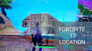 Fortnite Season 9 Unlock Fortbyte 17 Location Wooden Fish Building