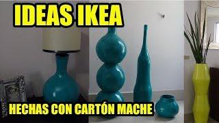 IDEAS IKEA JARRONES HECHOS CON PAPEL MACHE. HOW TO MAKE VASES OF MACHE PAPER