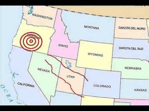 Strange vision of an earthquake in Oregon/Northwestern United States