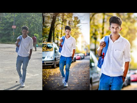 Photoshop Photo editing | Background changing | Walking in the road