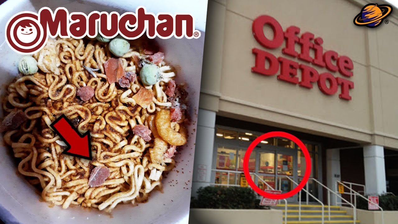 STRANGE FIND IN MARUCHAN SOUP   OFFICE DEPOT WILL DISAPPEAR IN 2021?