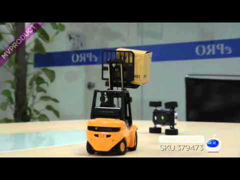Dx: Mini Desktop 6-CH Radio Remote Control Engineering Forklift Toy - Yellow