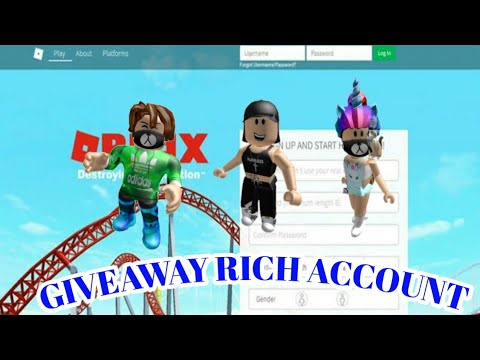 Roblox Free Account Giveaway Rich Account By J Joshhy