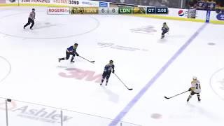 Liam Foudy Beautiful Coast-To-Coast OT Winner vs. Sarnia (2018-19 OHL Regular Season)