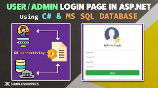 Multi User Login Page with ASP.NET with C Programming  MS SQL Database  (Part - 1/2)