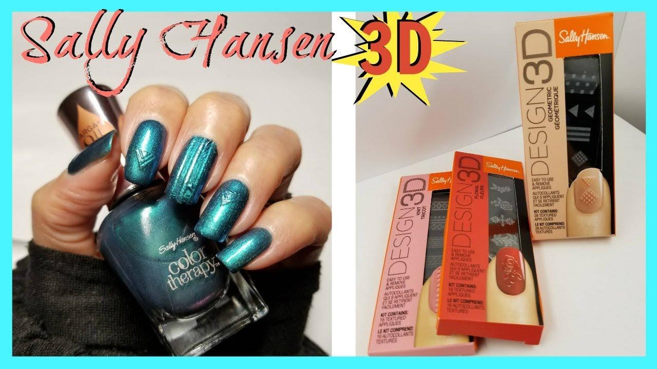 NEW Sally Hansen Design 3D Nail Stickers || LaShenny21Nails - YouTube