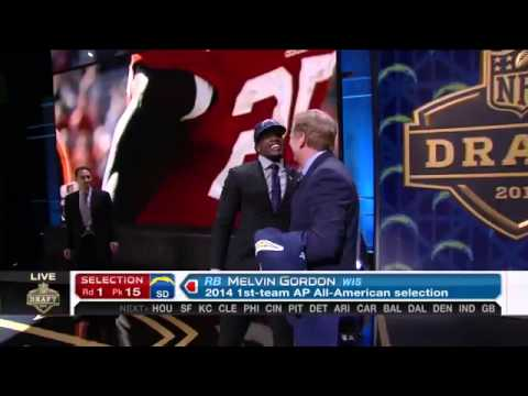 2015 NFL Draft - Chargers select Melvin Gordon