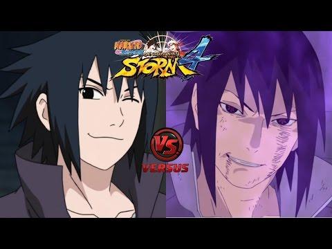 Sasuke Uchiha Road To Ninja vs Sasuke Uchiha Original | NSUNS4 (Japones)