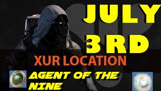 destiny xur s location july 3rd   what is xur selling week 43   agent of the nine 7 3 15