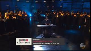 Stevie Wonder & Houston Choir - Lean On Me Hand and Hand | A Benefit for Hurricane Relief