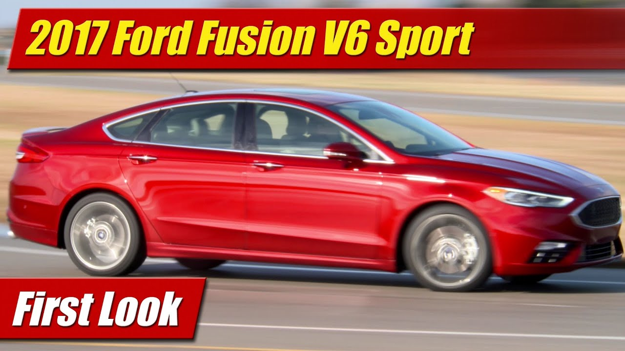 2017 Ford Fusion V6 Sport First Look
