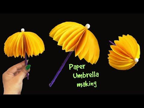 How to make a Paper Umbrella...DIY Paper Umbrella|Origami Umbrella making|ArtHolic KM
