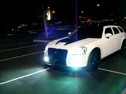 custom supercharged dodge magnum on 26 meets knight rider ...