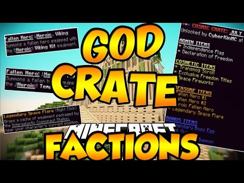 MY LUCKIEST GOD CRATE SO FAR!!!?  - Minecraft Cosmic PvP EP:8 Ice Planet | COSMIC FACTIONS