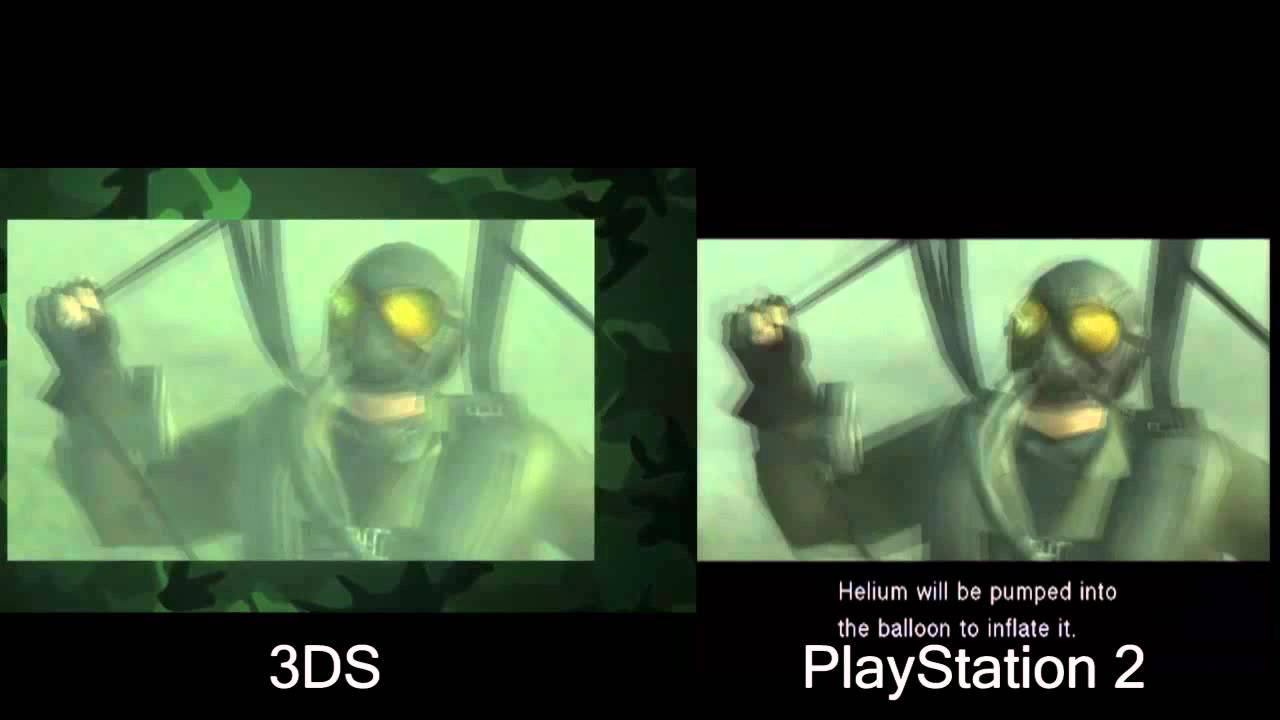 Metal Gear Solid Snake Eater 3d Video Comparison 3ds Vs