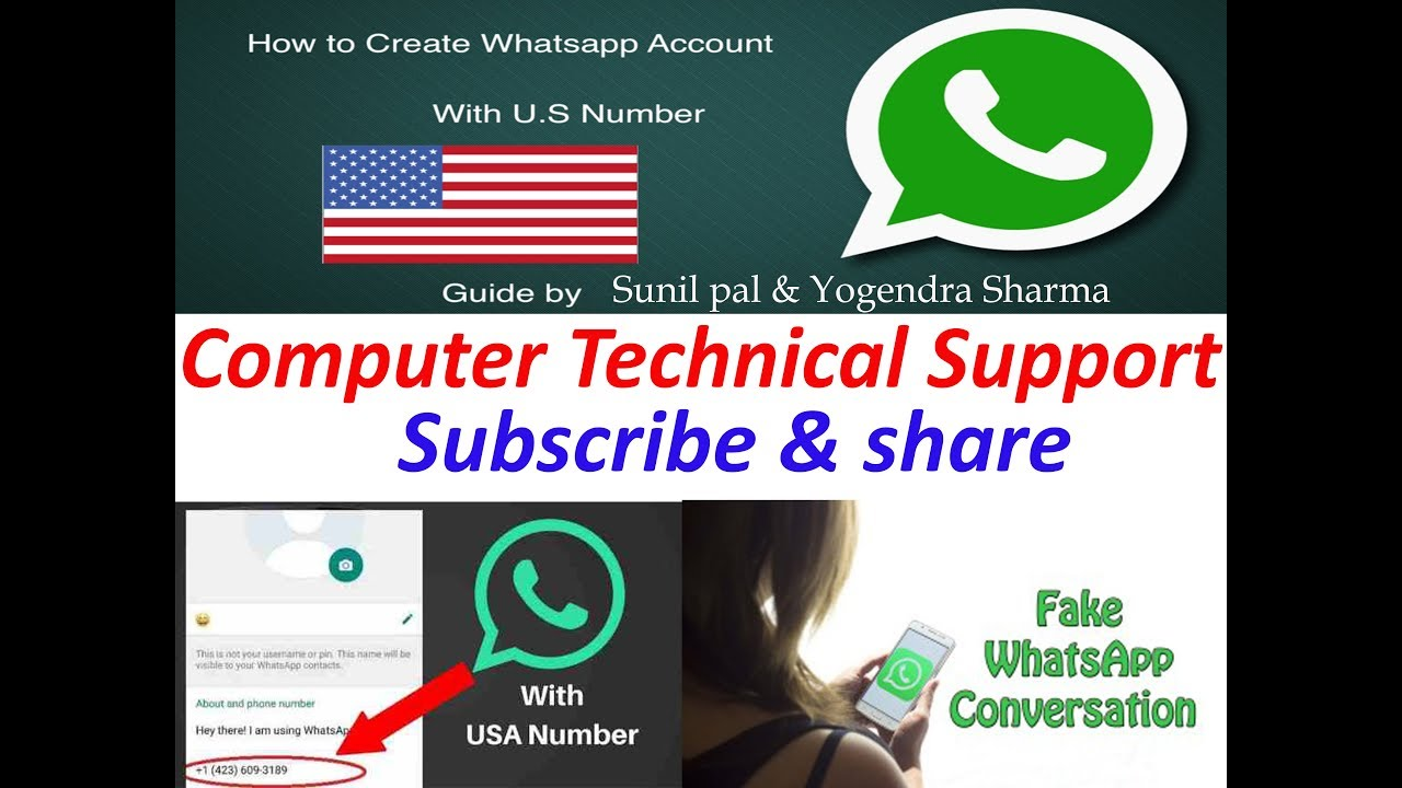 How to create whatsapp account in computer