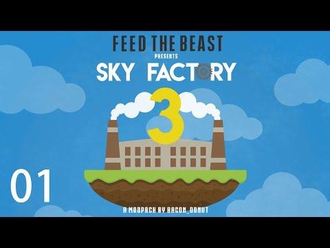 Sky Factory 3 w/ xB - THE BEGINNING [E01] (Minecraft Modded Sky Block)