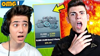 13.500 V-Bucks 1vs1 gegen ARIAN!😱 + krasser PRANK (FORTNITE)