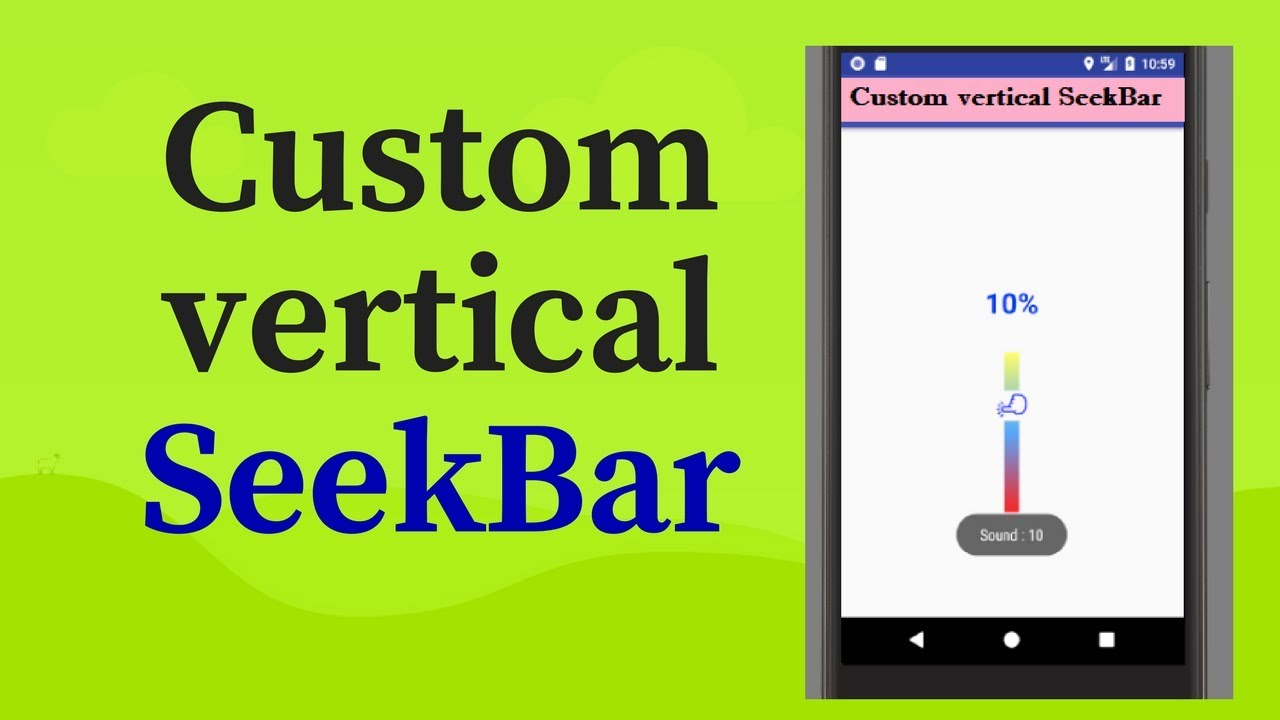 how to use custom vertical seekBar in android