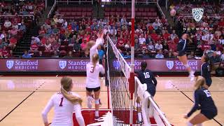 Recap: No. 4 Stanford women's volleyball shuts out No. 5 Penn State in Pac-12 game of the week